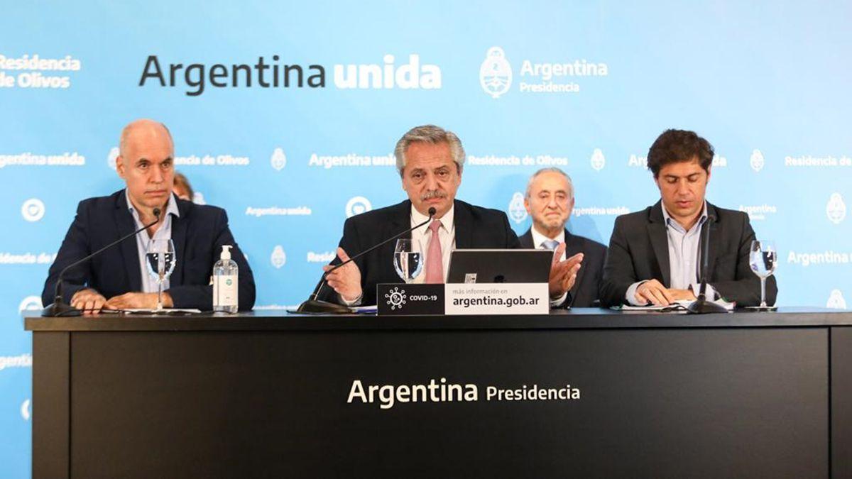 Fernández define con Larreta y Kicillof cómo sigue la cuarentena