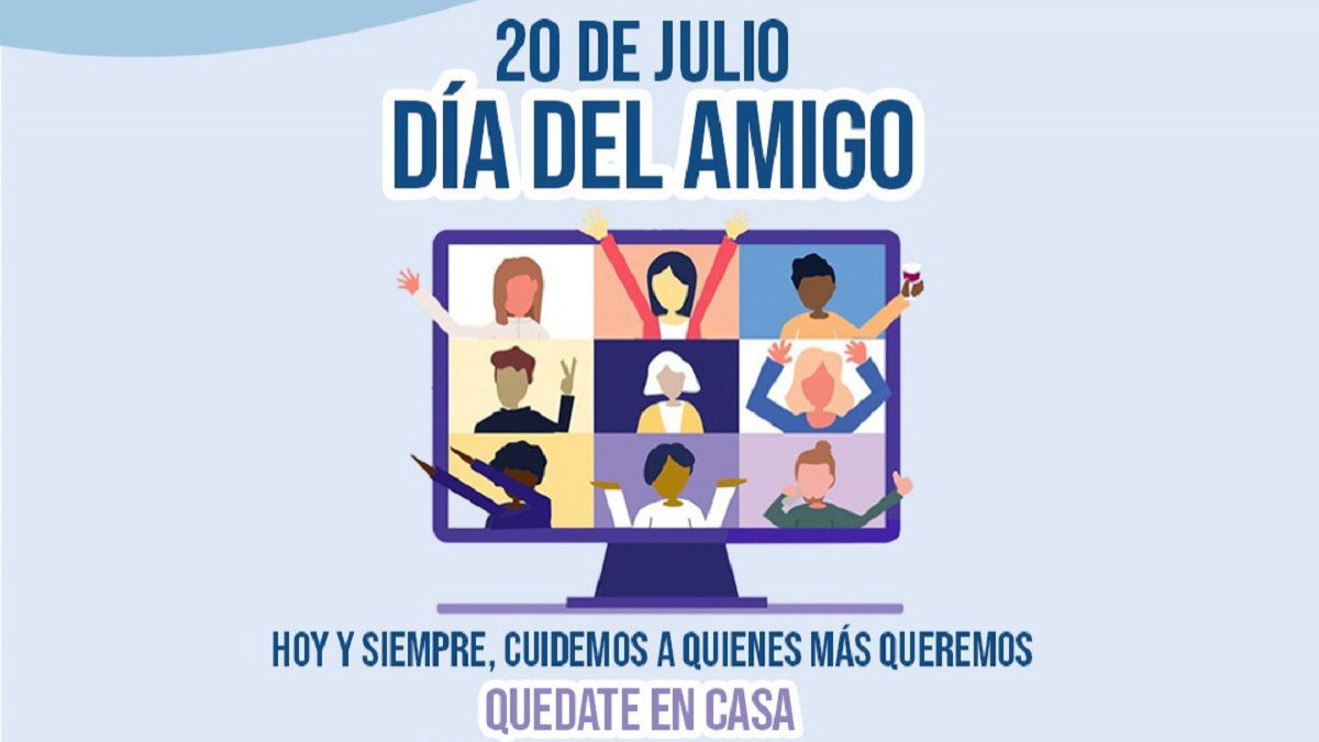 Lanzan una campaña para evitar contagios en el Día del Amigo