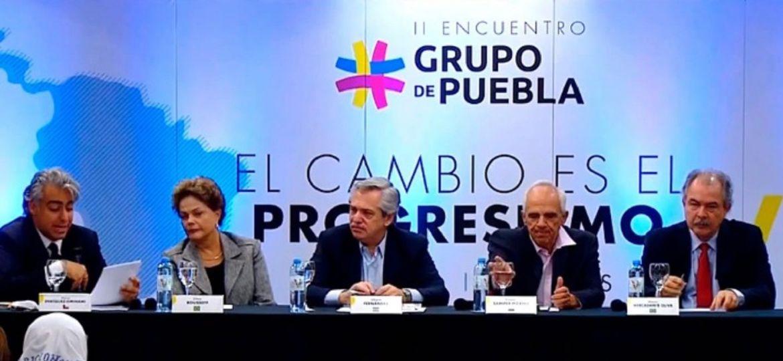 Taiana dijo ante el Grupo de Puebla que «el coronavirus no es causante de la crisis global»