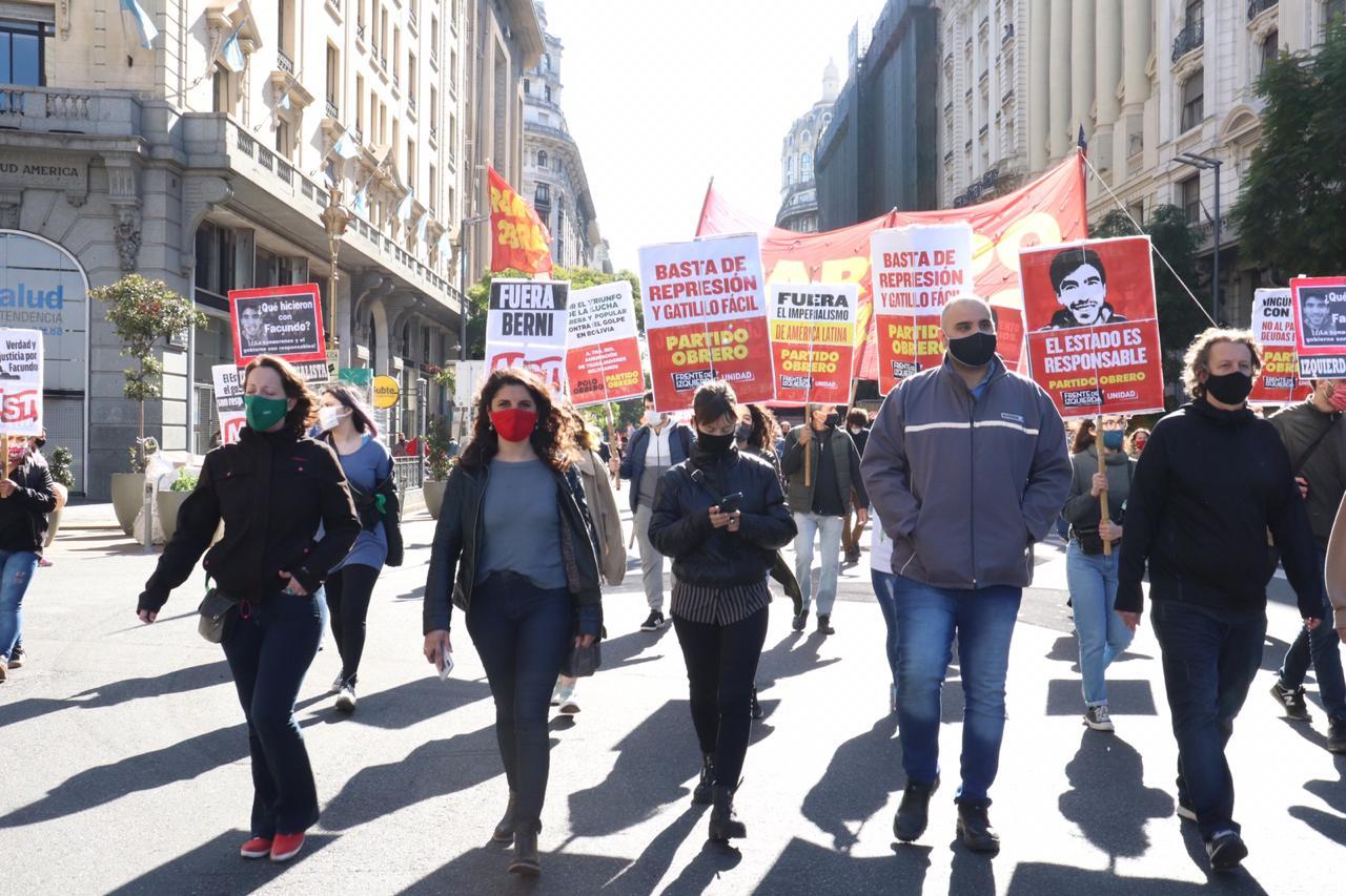 Celeste Fierro: «Nos movilizamos contra la violencia de la Bonaerense»