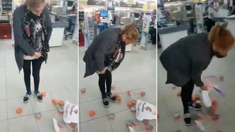 Detuvieron a la mujer que intentó robar 27 latas de atún de un supermercado