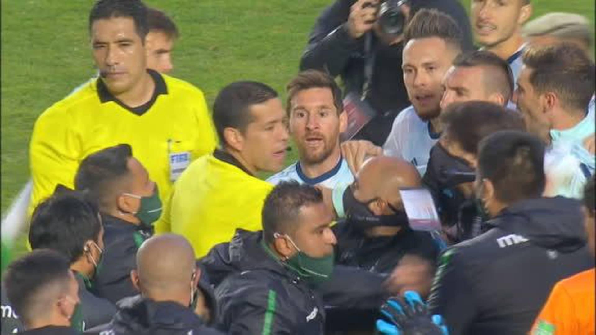 La pelea de Messi: «¿Qué te pasa pelado?»