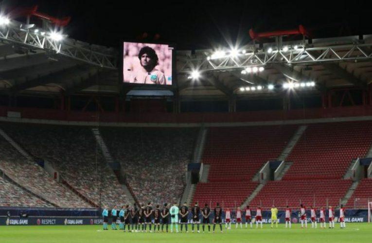 Clubes de todo el mundo se unieron en el recuerdo a Maradona