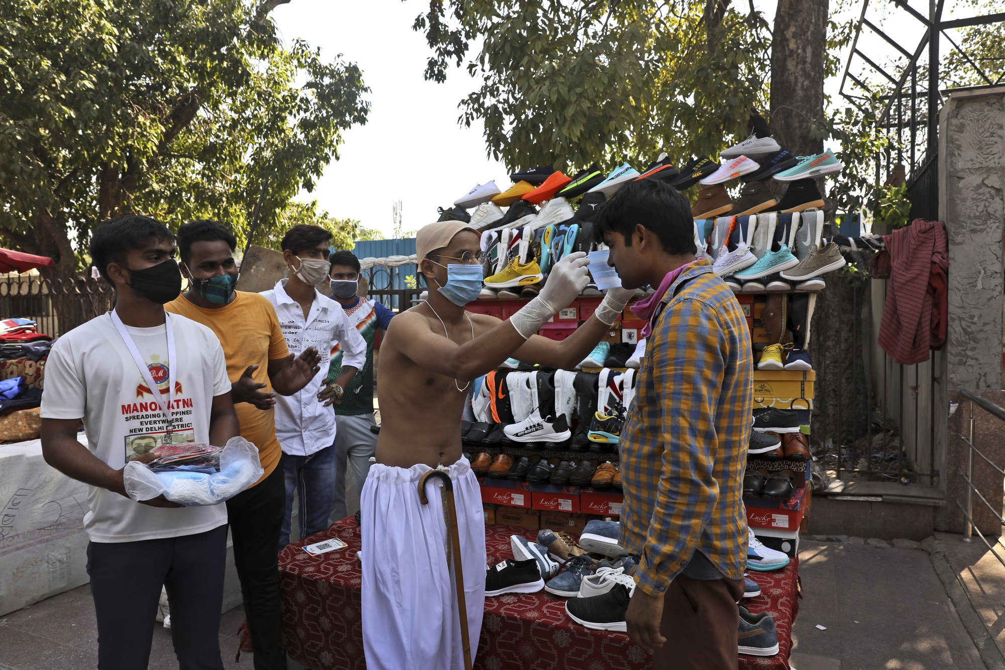 Nueva Delhi cuadruplica la multa para quienes no usen barbijos