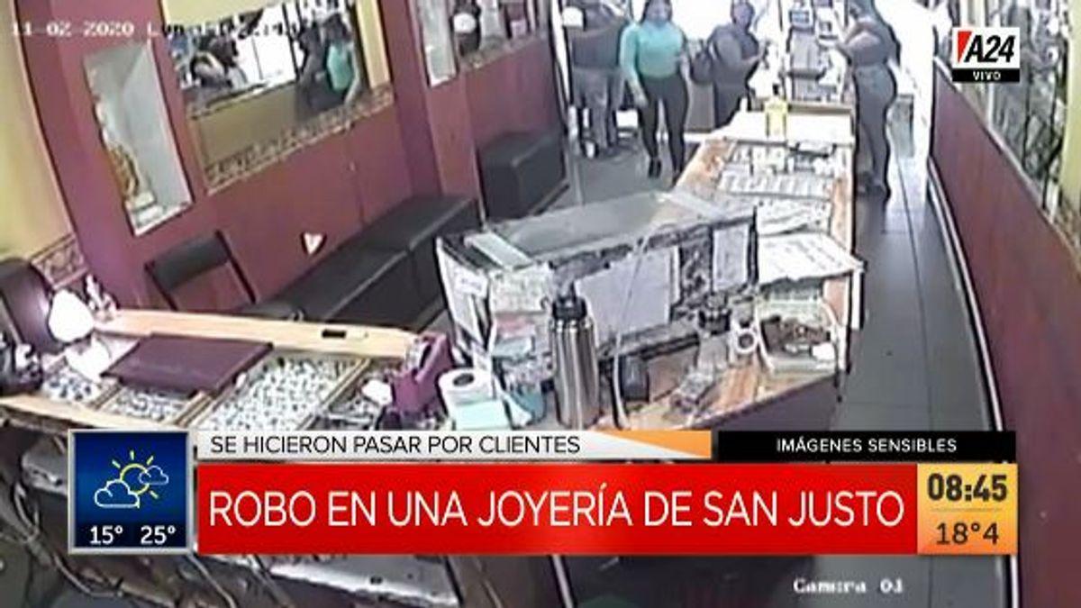 En tres minutos roban alhajas y un millón de pesos de una joyería de San Justo