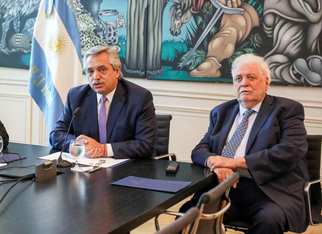 Alberto Fernández se reunió con González García en la Casa de Gobierno