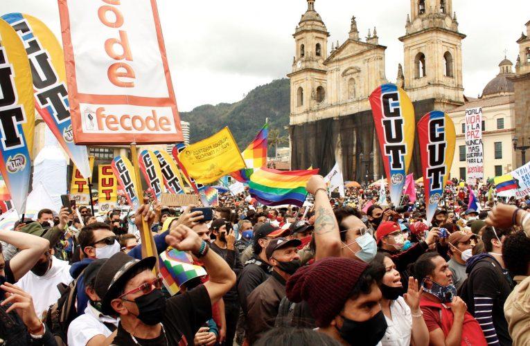 Jornada de movilización y paro nacional en Colombia