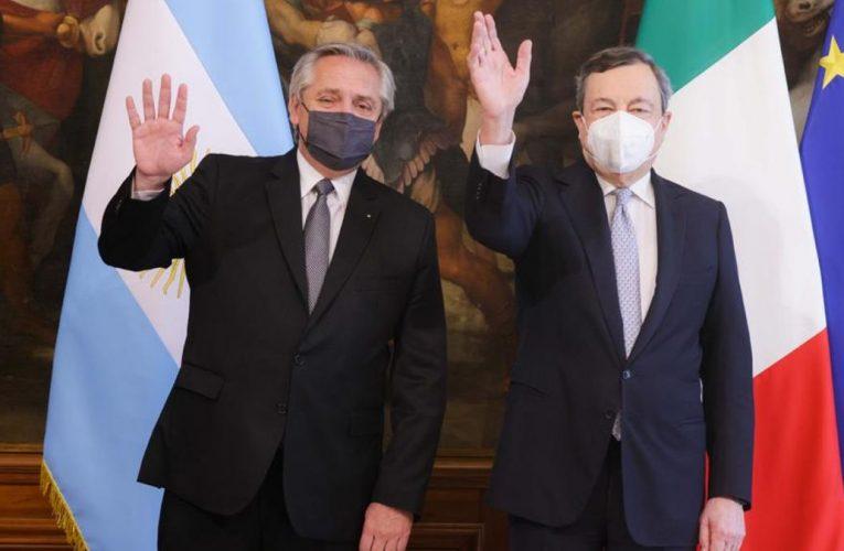 Fernández se reunió con el presidente Mattarella y con el primer ministro Draghi