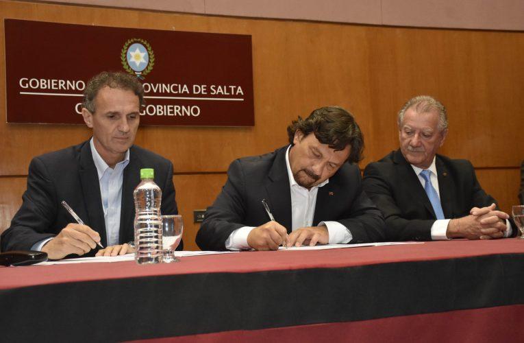 Katopodis y Sáenz firmaron acuerdos para ejecutar obras en Salta con inversión de $6.234 millones