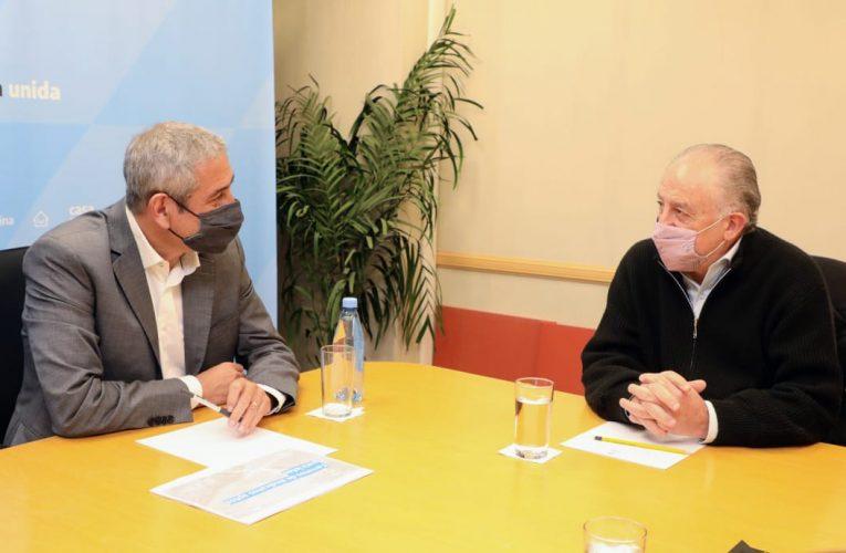 Ferraresi se reunió con Yasky y Daer para avanzar con los créditos de viviendas para sindicatos