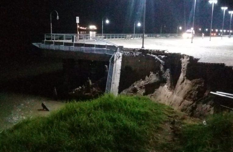 La bajante del Río Paraná provocó el derrumbe de un muelle