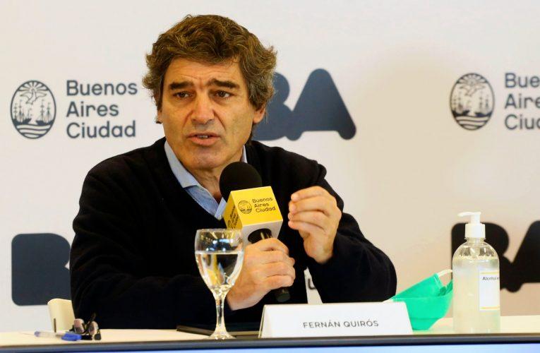 Quirós habló de los pasaportes sanitarios: «Puede ser una herramienta a evaluar y analizar su impacto en el mundo»