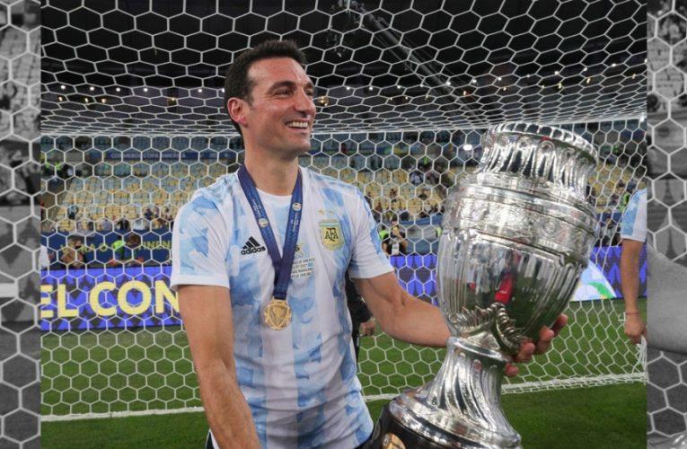 """Scaloni estuvo anoche con Fantino: Messi, plantel y la """"Scaloneta"""""""