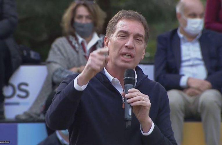 Santilli comenzó la campaña: «Hay que ser firmes con la delincuencia»